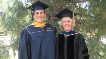 Bryan Welly and Dr. Alison Van Eenennaam at graduation 2014